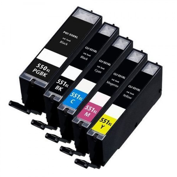 canon pgi 550xl bk cli 551xl bk c m y ink cartridges multipack. Black Bedroom Furniture Sets. Home Design Ideas
